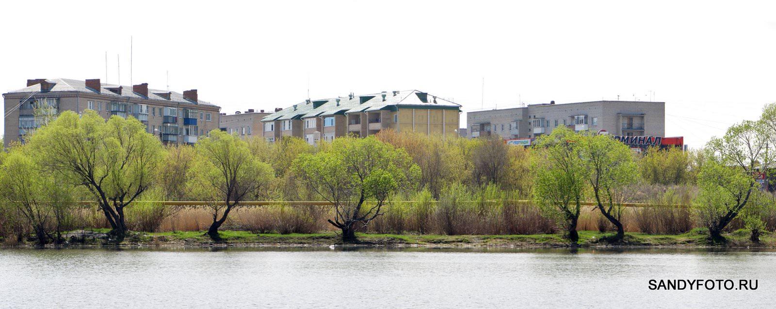 Зеленеющий берег реки Увельки